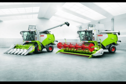 Комбайны CLAAS+CAT Lexion